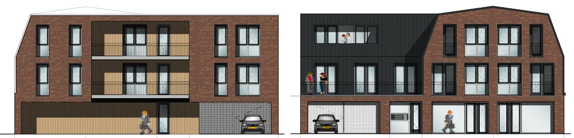 Ruimtelijke onderbouwing nieuwbouw in Zetten: naoorlogse bouw naar 6 appartementen